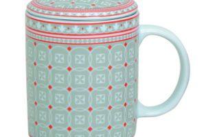 Cana ceai cu sita si capac retro