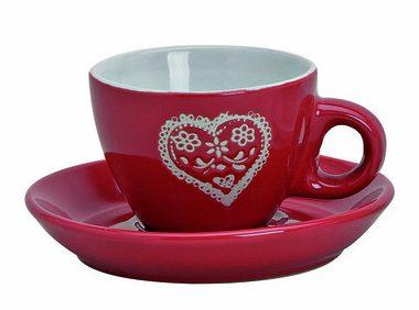 ceasca de cafea espresso cu farfurie