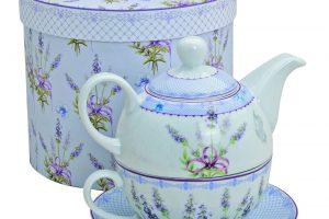 Set ceai portelan Lavender
