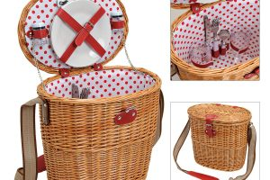 Cos picnic doua persoane Red Dots
